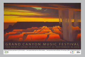 2016 Grand Canyon Music Festival Poster from Ed Mell