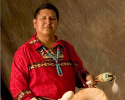 Traditional Hopi singer and drummer Clark Tenakhongva will perform Nov. 12-13 in Mesa as part of the Canyon Records 60th anniversary celebration. Credit: Canyon Records